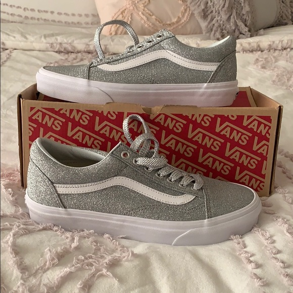Vans Old Skool Lurex Glitter Silver